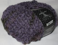 фиолетовый с тёмно-синими, тёмно-зелёными и коричневыми утолщениями