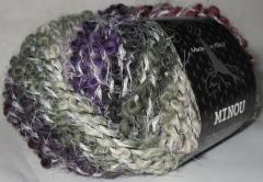 фиолетово-полынно-кремово-терракотный с белыми усиками